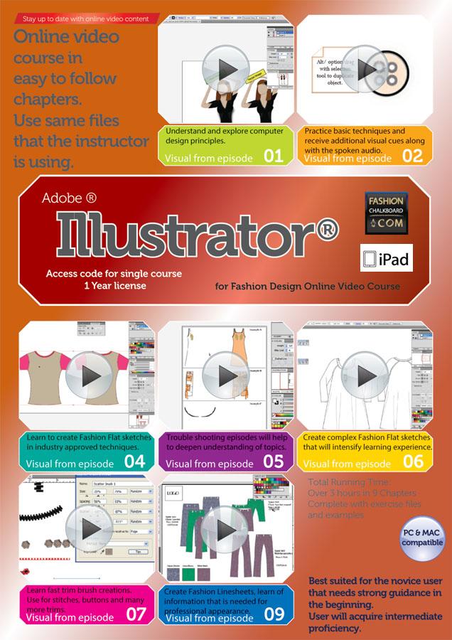 Learn Fashion Designing Online Illustrator for fashion design