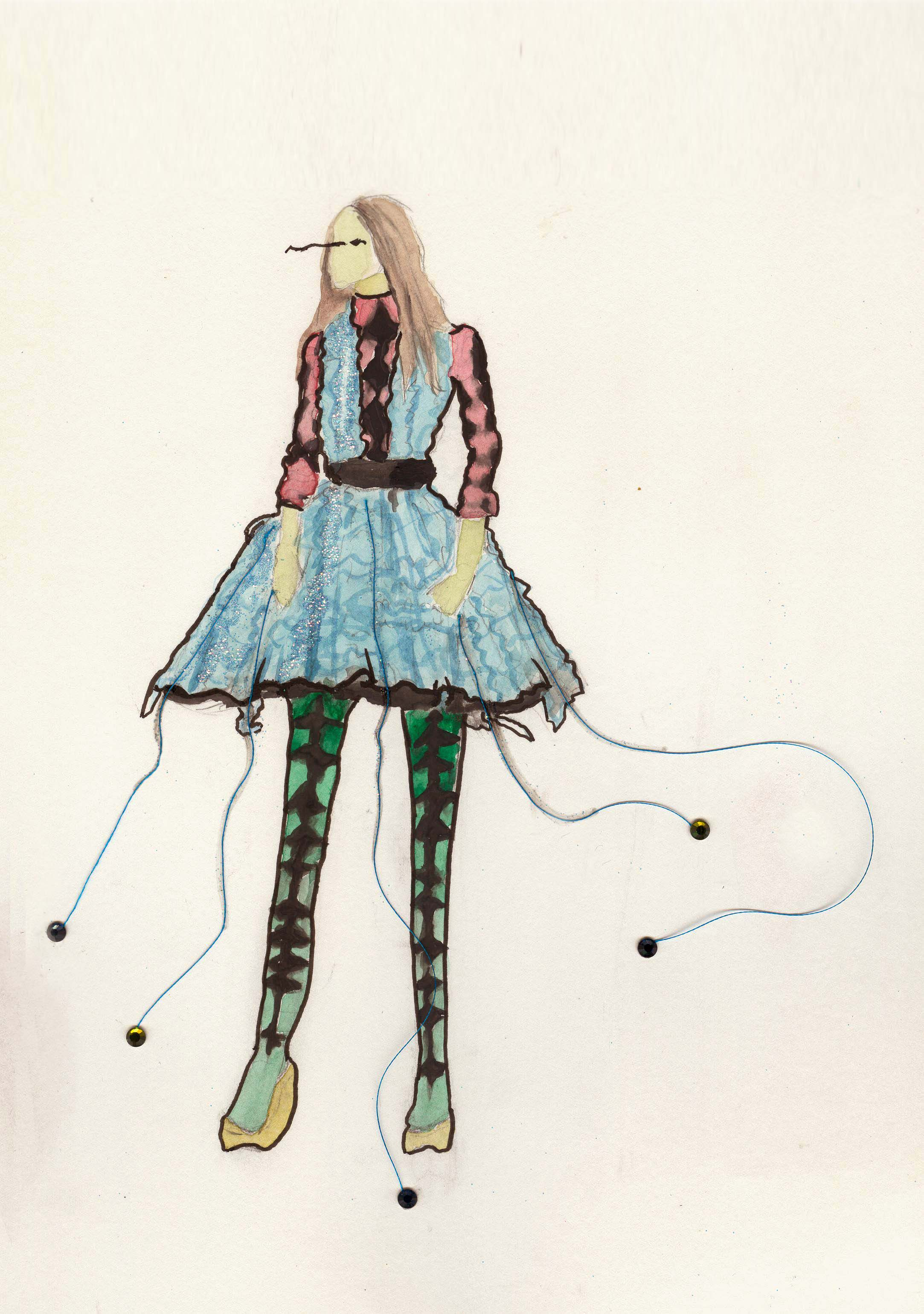 Fashion Croquis in water color