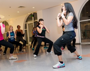 here i am teaching zumba at my old campus, at FIDM l.a.