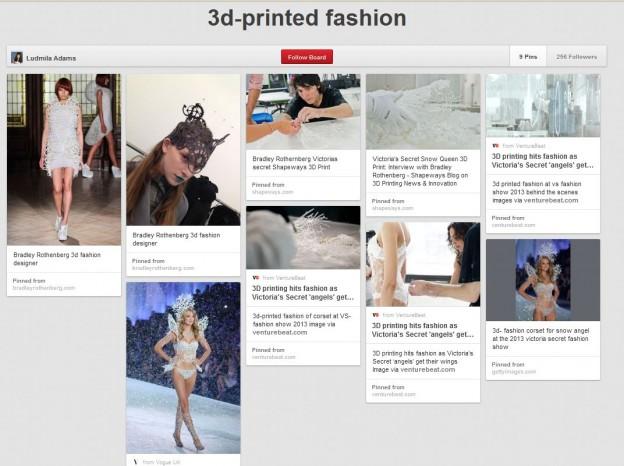 3d printed fashion design victoria's secret 2013