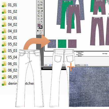 Illustrator for fashion design excercise files example