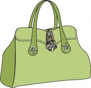 Double handle purse edited in Photoshop and Illustator