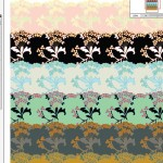Fashion lace created in Illustrator in multiple colorways