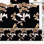 Fashion lace created in Illustrator