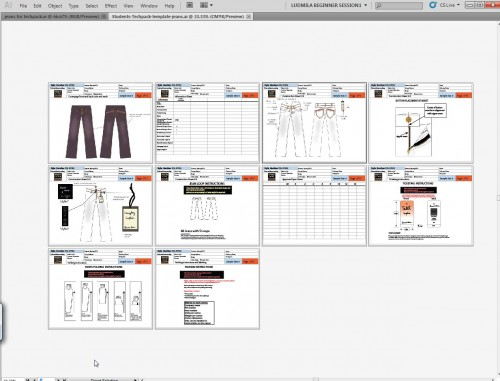 Exercise files for Tech packs with Adobe Illustrator for Fashion Design Course