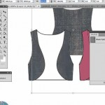 bring denim into vest flat sketch in Photoshop