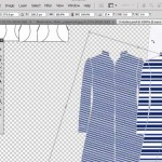 paste textile inside jacket with rotation in Photoshop
