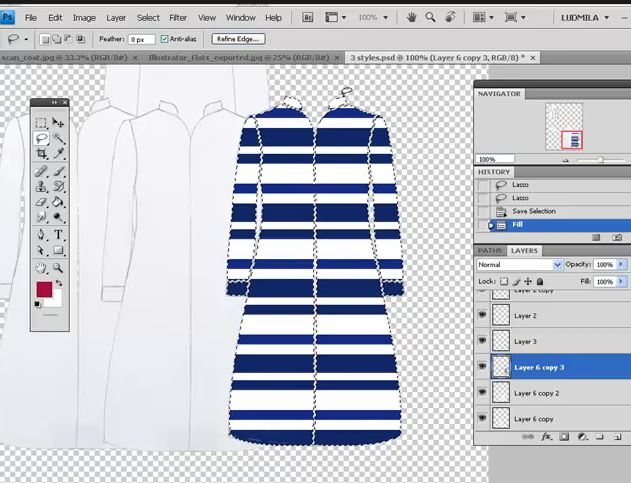Free Friday Mini Fashion Webinar- Flat sketches and fabrics in Photshop