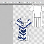 Rotate textile in flat sketch in Photoshop