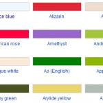 Quick color names inspiration for fashion designers