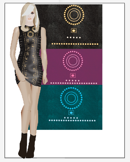 Freebie alert – Design your fashion croquis's outfit like Versace for H&M