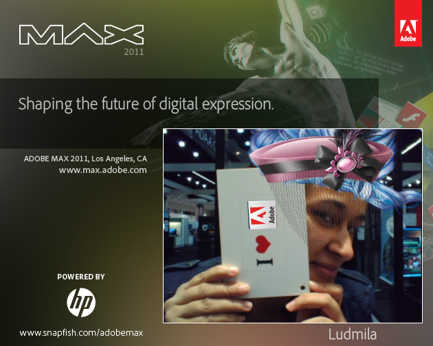 Fashion designer greetings from Adobe Max