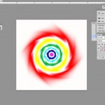 Beginnings of create tie dye spiral in Photoshop