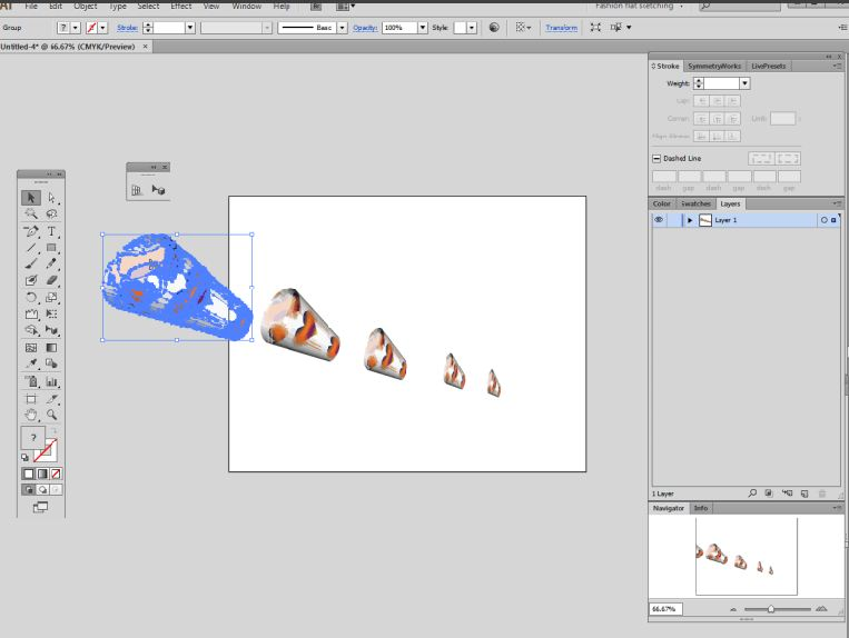 Take 3d Object And Use Perspective In Illustrator