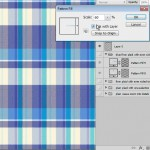 Create varying scales of plaid details in photoshop
