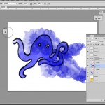 Create watercolor drawing in photoshop