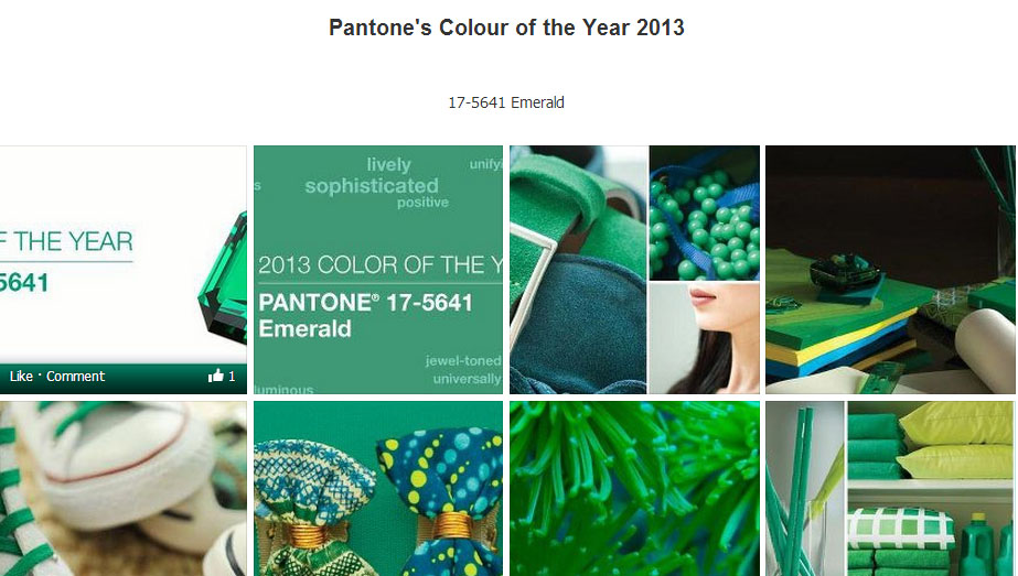 2013 – Pantone color of the year – Emerald -17-5641