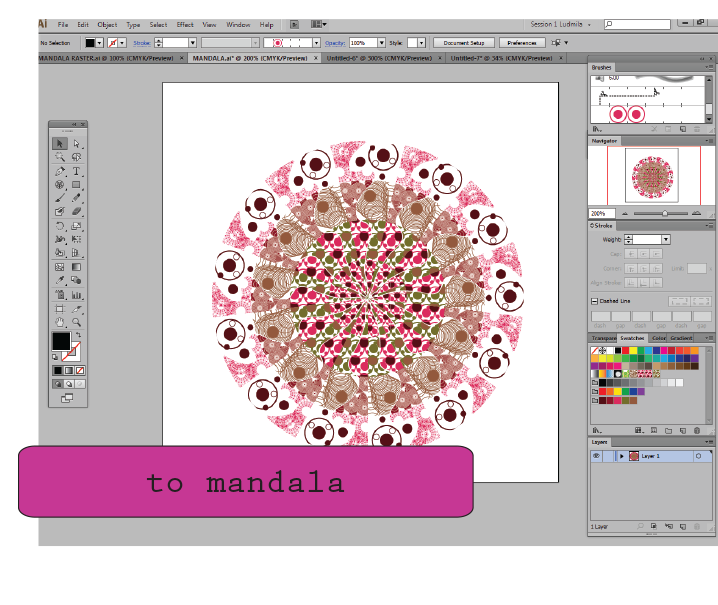 creating seamless tiles in illustrator cs6 with polar grid tool and mandalas