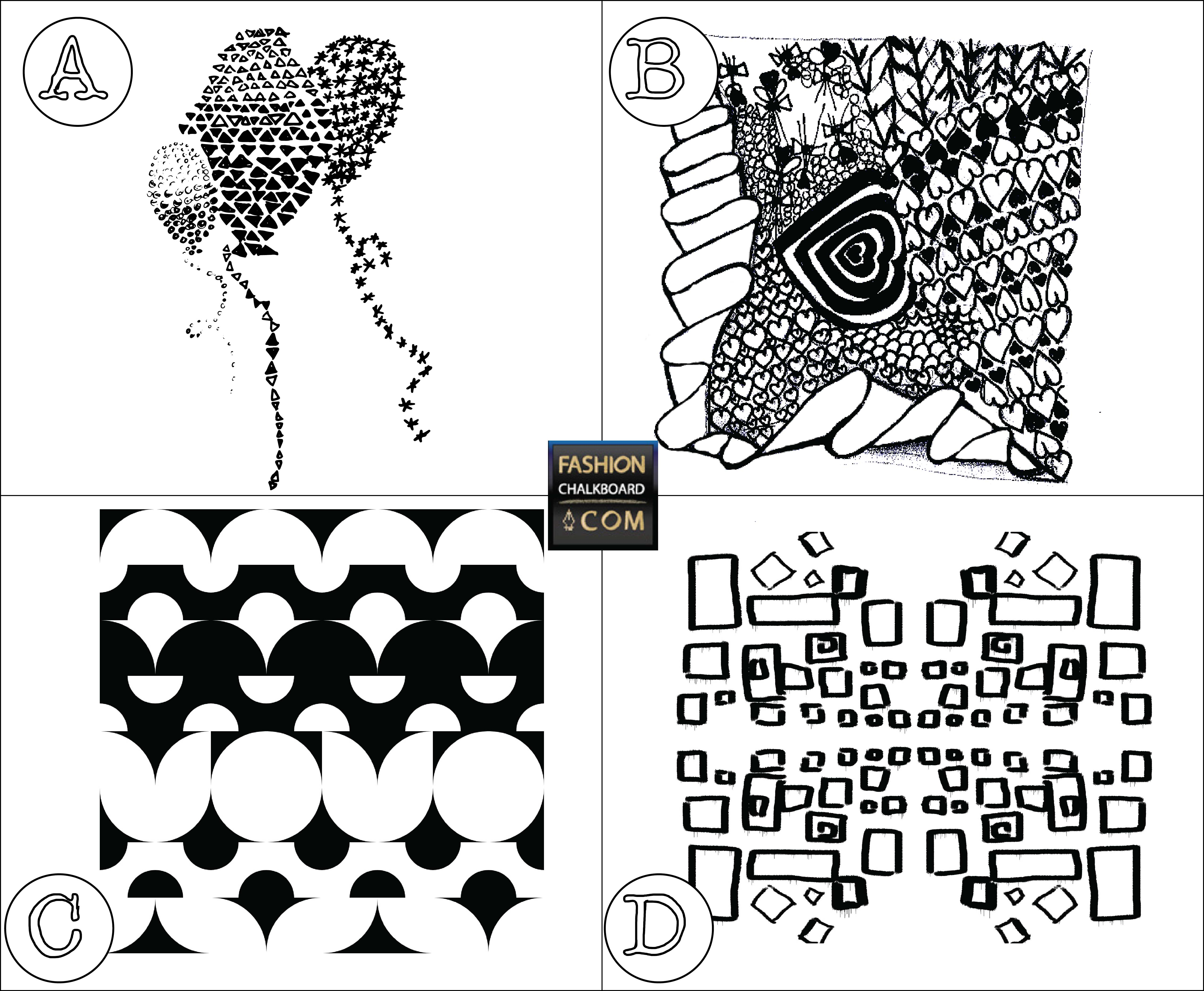 Vector or jpg seed for digital pattern design class