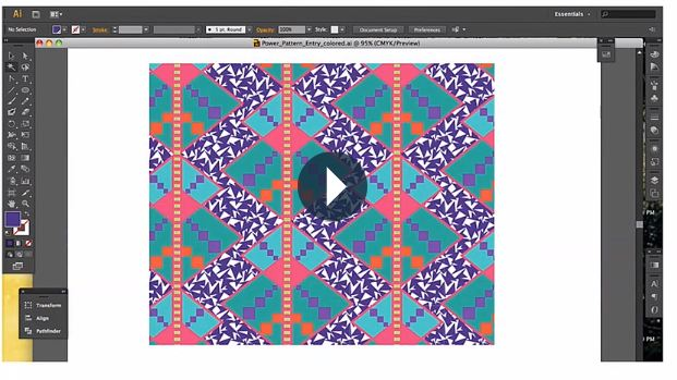 Visuals And Video Of Online Surface Design Textile Pattern Courses