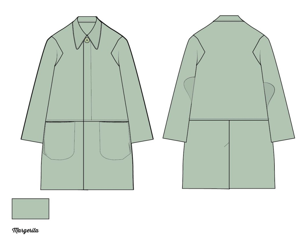Fashion flat sketch coat, how to draw a collar in adobe illustrator