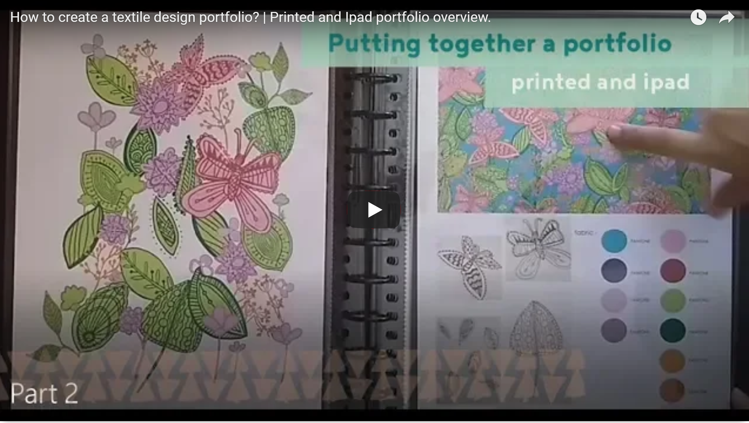 how to create a textile design portfolio printed and ipad version